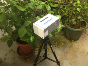 Continuous radon monitor in Portland home